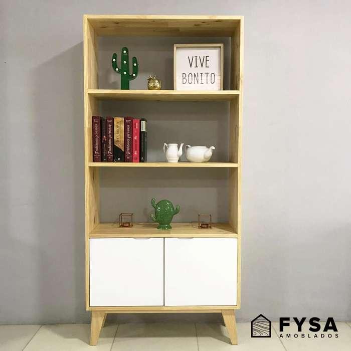 Mueble Estante Librero para Sala, <strong>comedor</strong> tono nature
