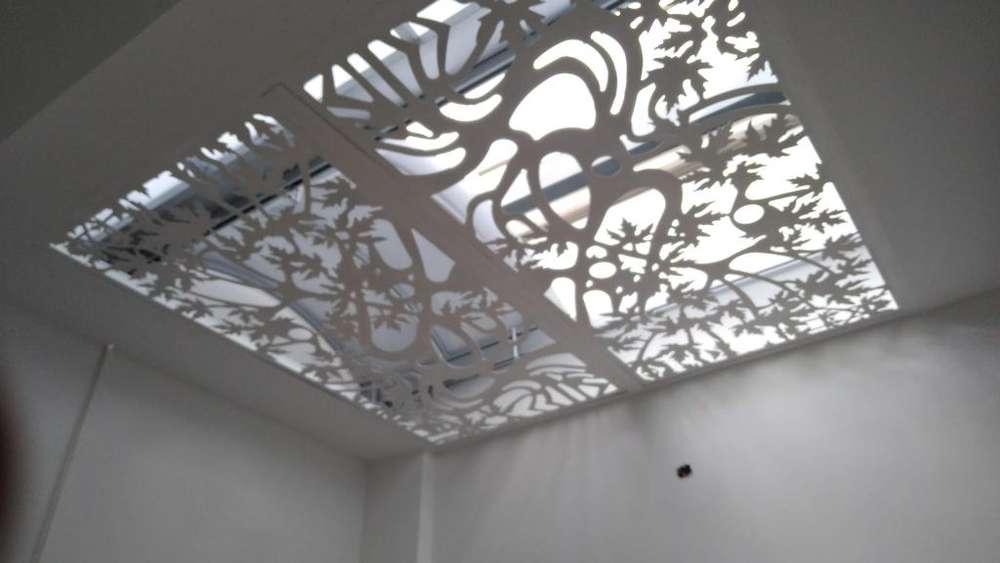 Decoración en lamina perforada corte decorativo