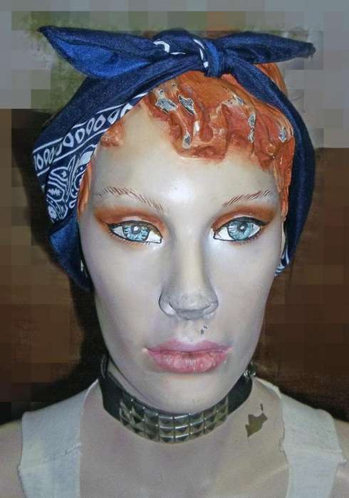 maniqui mujer busto decoracion