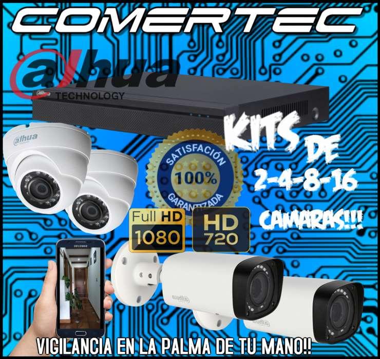Kit De Cámaras De Seguridad Dahua 2-4-8-16 O Mas!