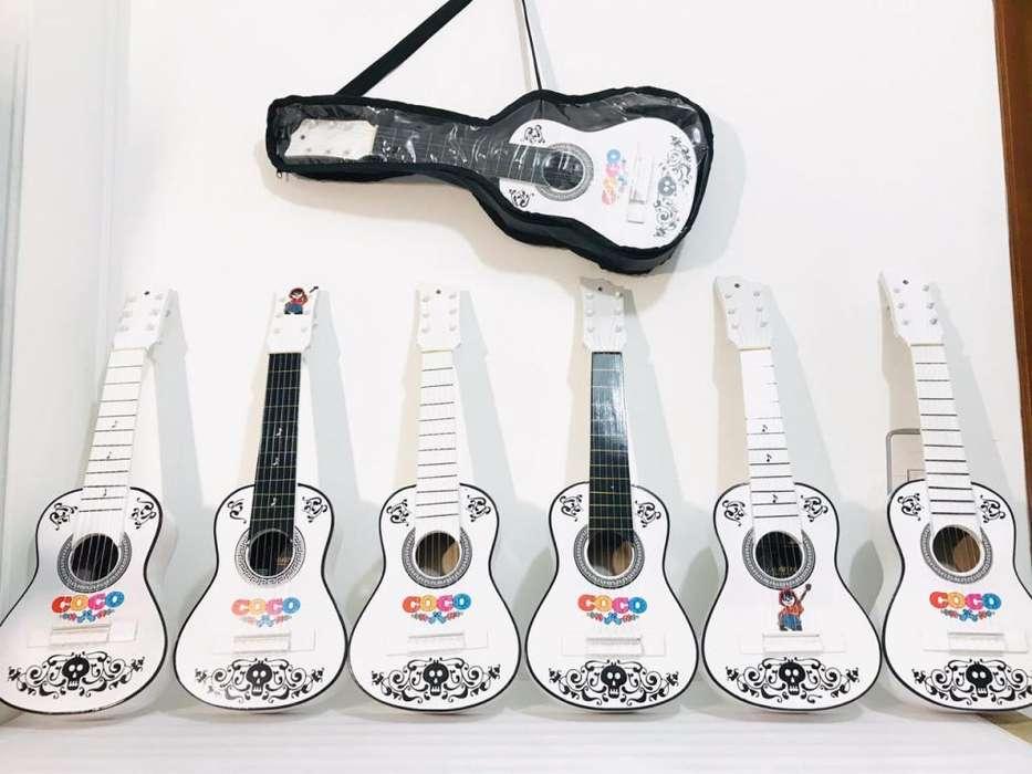 guitarras para niños hasta 4 años serie coco y otros super heroes