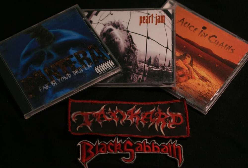 Cds de Pantera,alice In Chains,pearl Jam