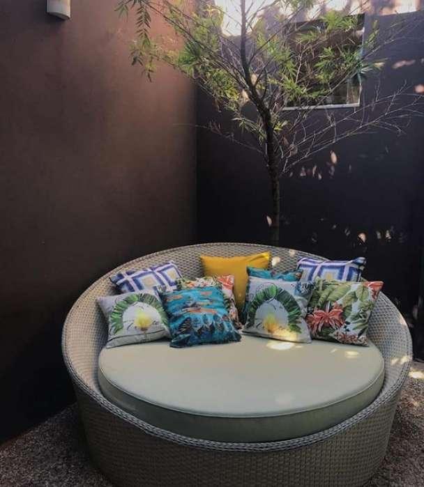 Sofa nido mimbre sintetico