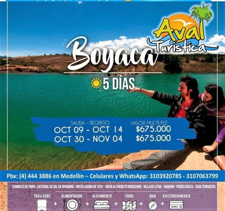 Excursiones a Boyacá 04 noches 05 días en Octubre 2019