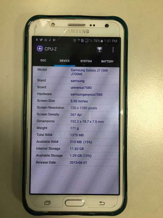 Samsung Galaxy J7 4gsm-j700mds Liberado