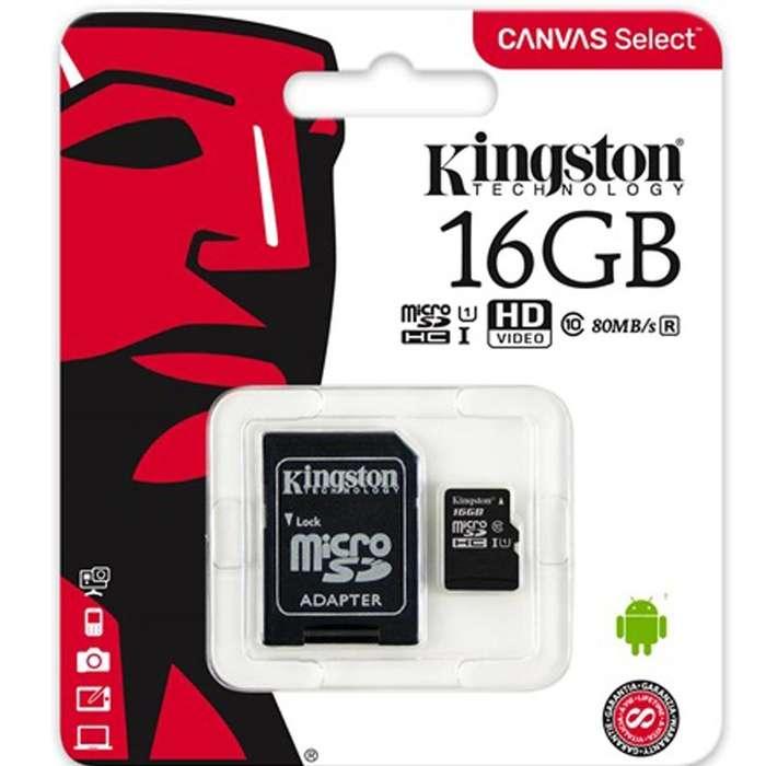 Memoria Kingston Clase 10 Micro SD de 16gb