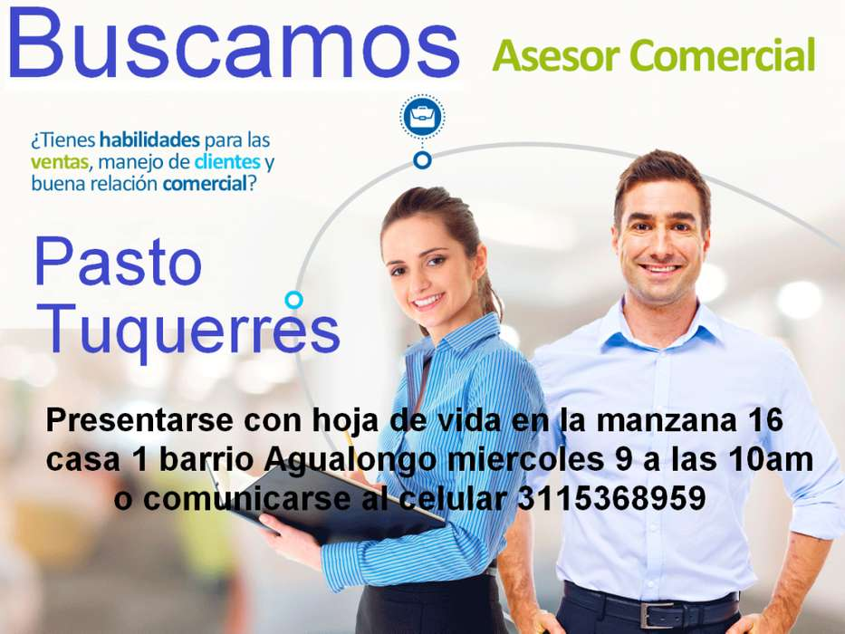 ASESOR COMERCIAL PASTO-TUQUERRES