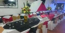 Plato Buffet,decoraciones,sonido,meseras