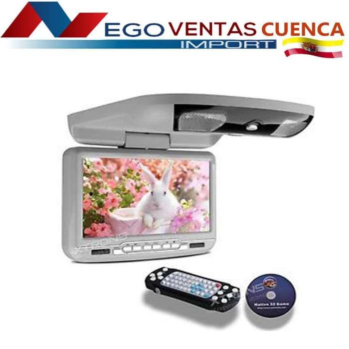 PANTALLA DE TECHO DE 9 PULGADAS REPRODUCTOR DVD USB SD PARA CARROS PRECIO OFERTA 125 DÓLARES