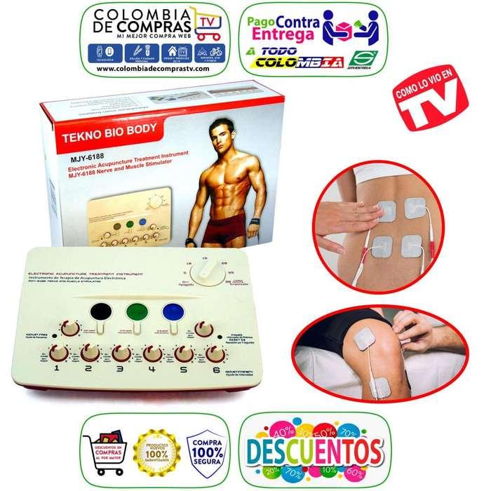 Gimnasia Pasiva TV Profesional 12 Electrodos Con Monitor, Nuevas, Originales, Garantizadas.