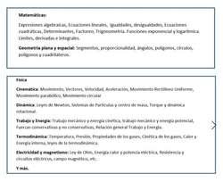 Valle de los chillos, clases Matemáticas, biología, física, química