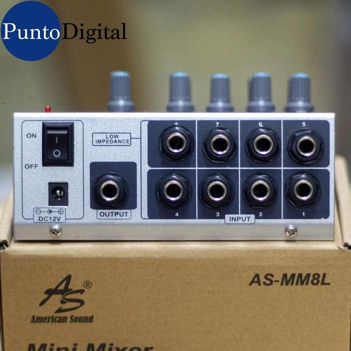 Mini Mixer American Sound AS-MM8L