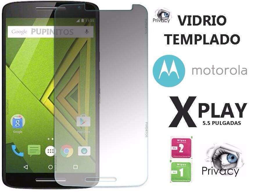 Vidrio Templado Anti Espia Privacy Spy Motorola Moto X Play