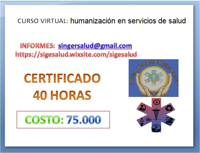 75.000 curso virtual humanización en servicios de salud