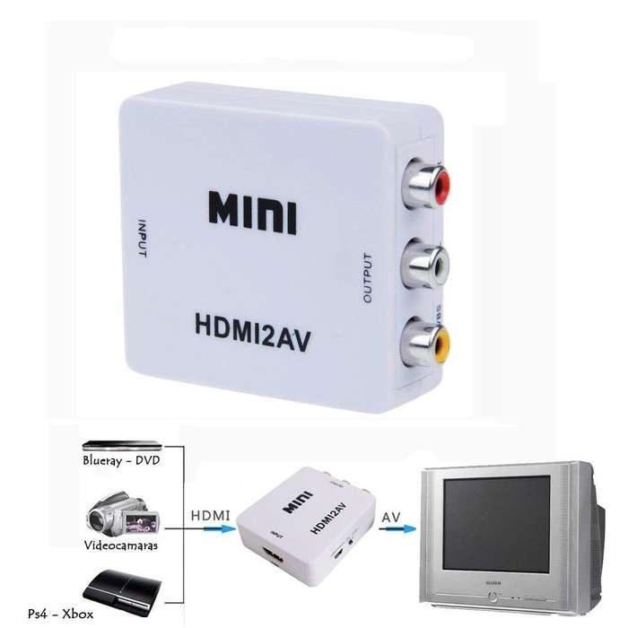 CONVERTIDOR DE SEÑAL HDMI A RCA A/V PARA TELEVISORES ANÁLOGOS
