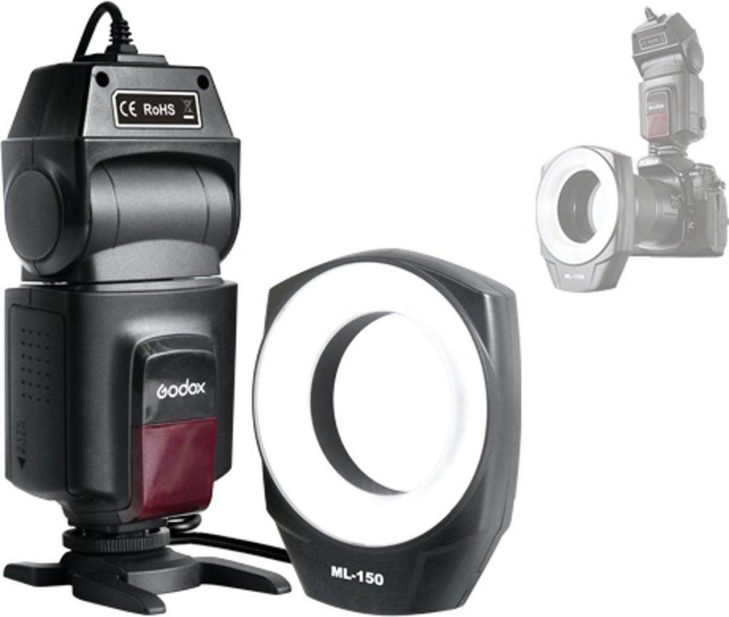 Godox Ml150 Macro Ring Flash Light Gn10 X Fotografia Video