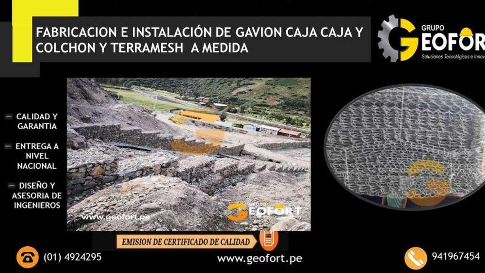 STOCK DISPONIBLE - GAVIONES CAJA ,<strong>colchon</strong> , TERRAMESH - PRECIO DE FABRICA TELF. (01)4924295
