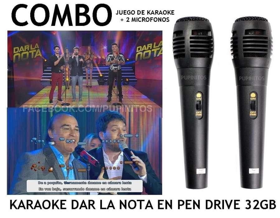 Juego De <strong>karaoke</strong> 2 Microfonos En 1 Pen Drive 32gb Rosario