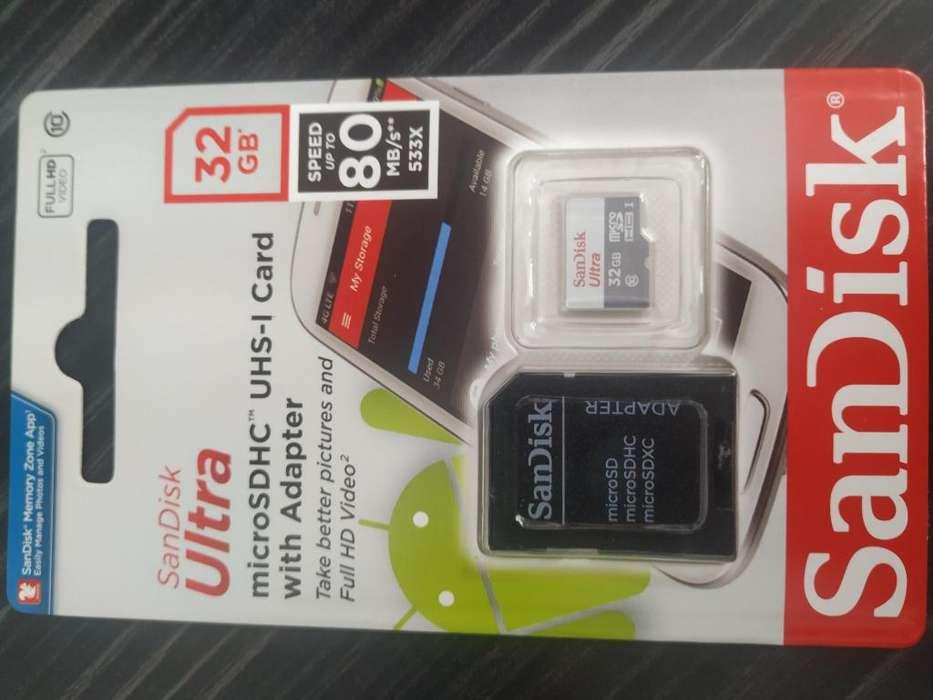 Memoria micro sd de 32gb clase10 original con garantía