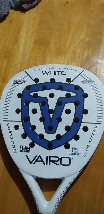 Paleta Padle Vairo White 4.3 Casi Nueva.
