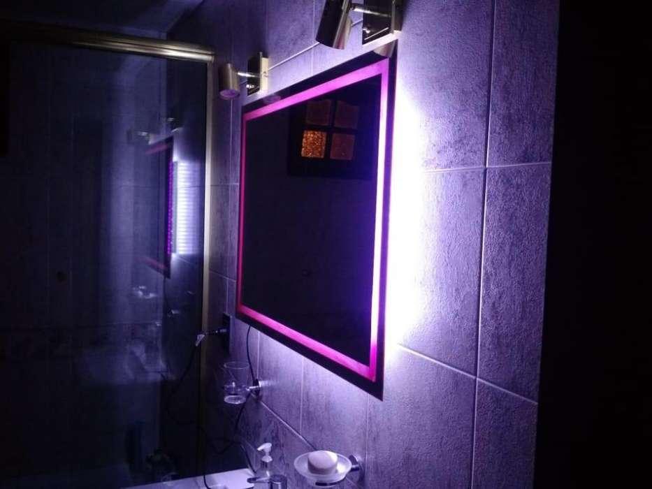 <strong>espejo</strong> con luz LED