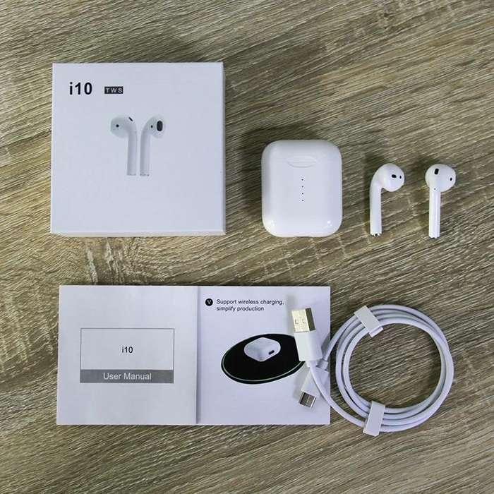 Nuevos audifonos i10 TWS Airpods Bluetooth 5,0, modelo 2019 , · era version, entrega inmediata.