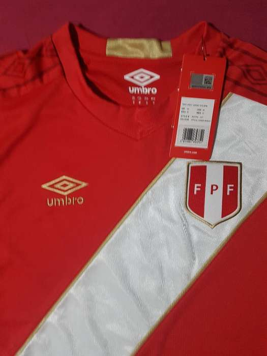 Camiseta Peru Roja Rusia 2018 Talla M