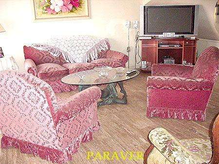 còmodo juego de <strong>living</strong> sillones de estilo tapizado pana categoria