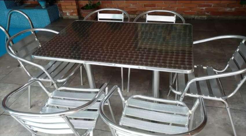 Juego De Terraza De Aluminio Muebles 1100414190