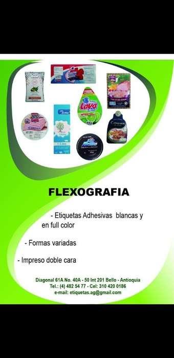 Etiquetas Adhesivas Flexograficas