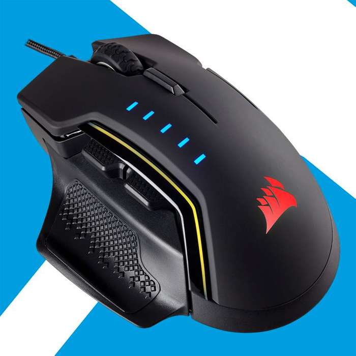 Acp - Mouse Gaming Corsair Fps Glaive Rgb 16000dpi 6 Botones