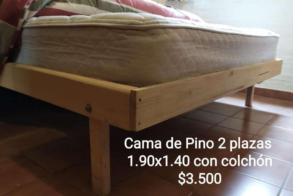 Cama de Dos Plazas Incluye Colchón