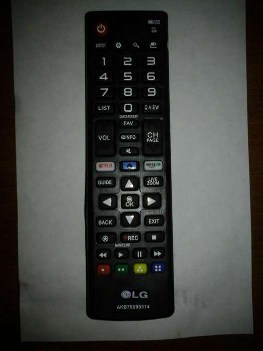 Control remoto <strong>televisor</strong> LG led