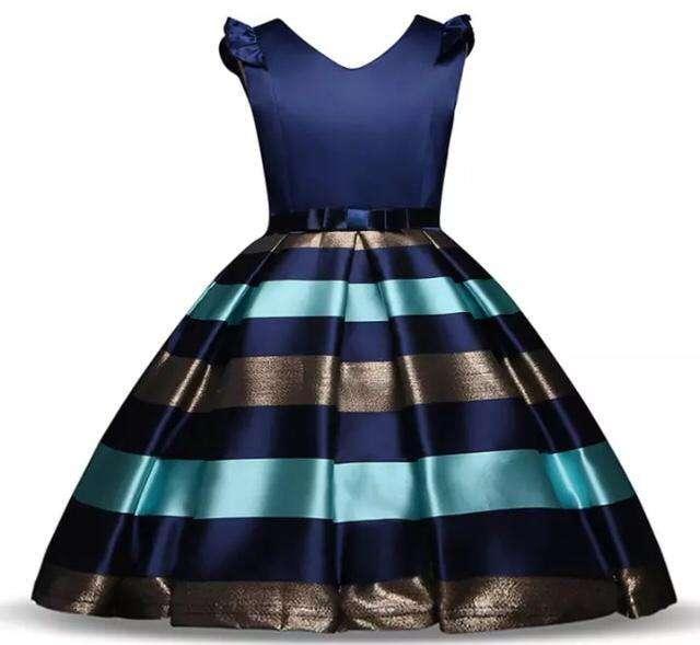 Vestido Azul/Dorado