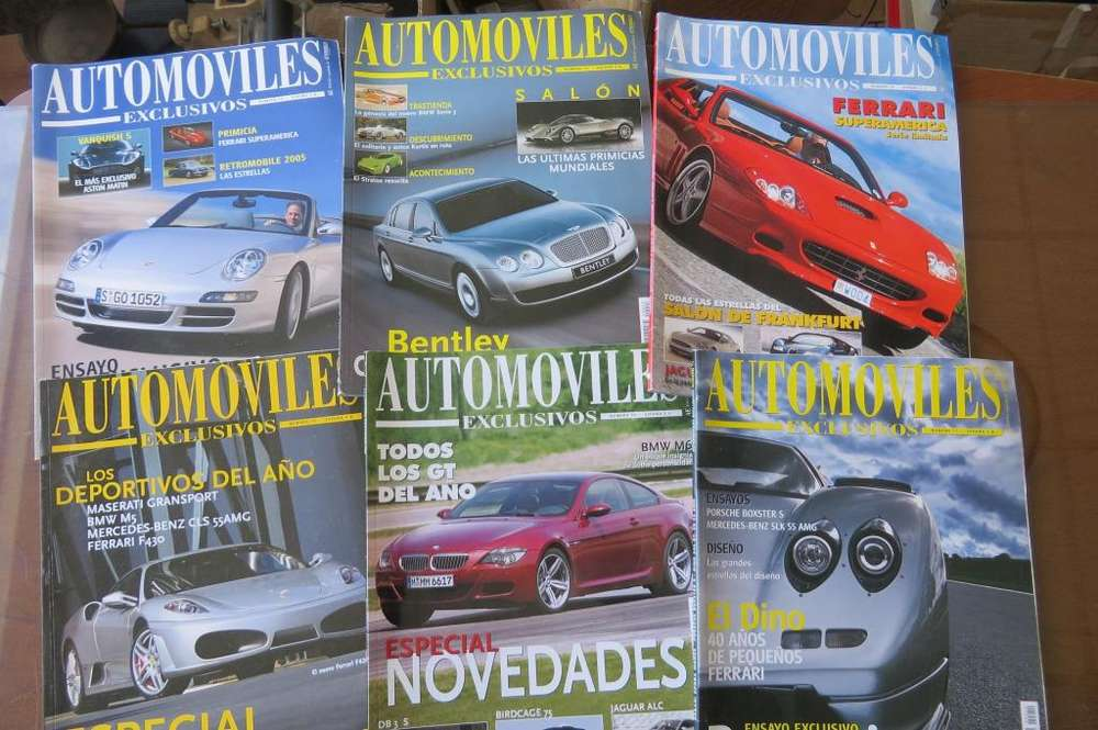 Revista Automoviles Exclusivos 6 tomos