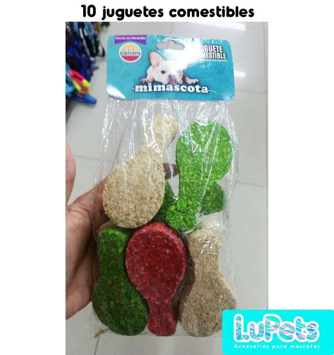 juguetes comestibles para perromascotas x10