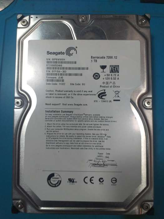 Disco Duro Seagate 1000gb