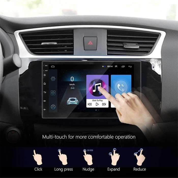 RADIO PARA CARRO ANDROID 8.1 GO WIGI GPS BLUETOOTH YOUTUBE WAZE MIRROR LINK