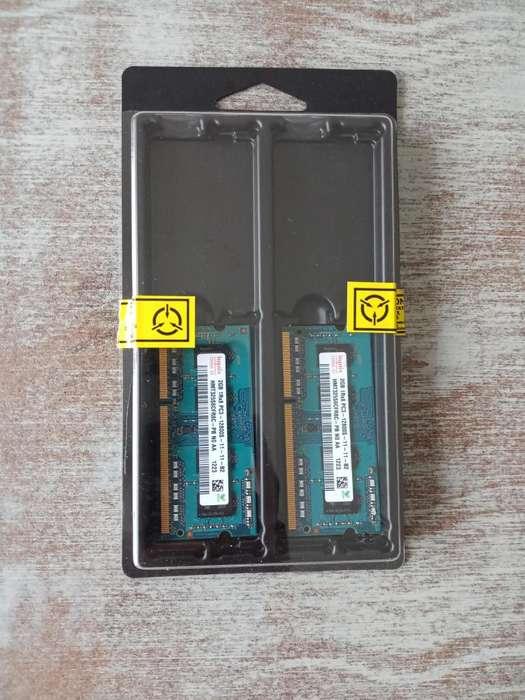 2 Memoria RAM de 2Gb c/u DDR3 1600Mhz
