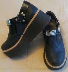 Zapatos de Cuero con Plataforma