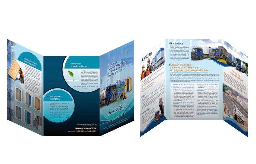 Diseño de brochures para impresión en alta calidad Teléfono 7912220 / 997835305