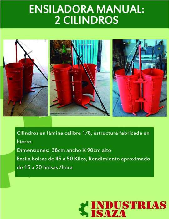 Ensiladora manual de dos cilindors