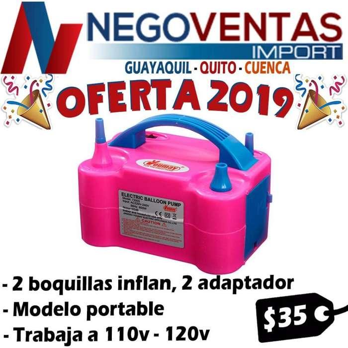 INFLADOR DE GLOBOS ELECTRICO IDEAL PARA TUS FIESTAS Y EVENTOS