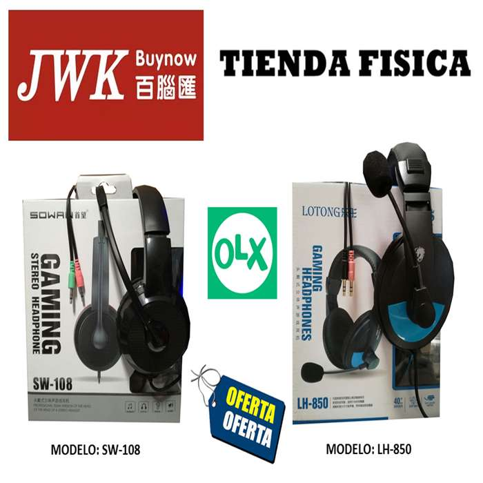 Audifonos Con Microfono Pc Gaming Jwk Vision