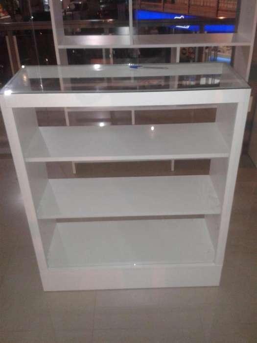 Mostrador con vidrio 1x40x90