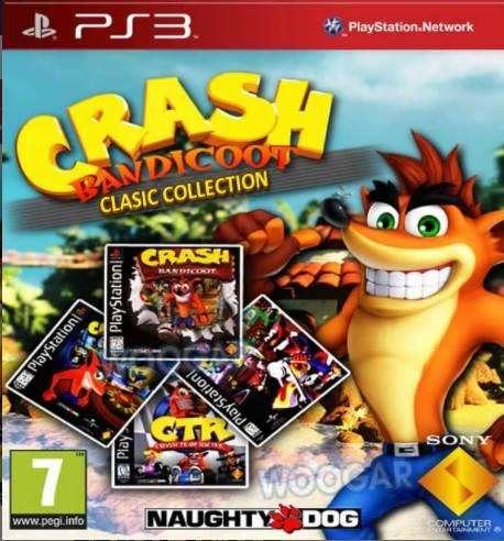 PS3 Crash Bandicoot 1, 2, 3 Crash Team Racing