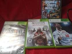 Xbox 360 con 4 Juegos