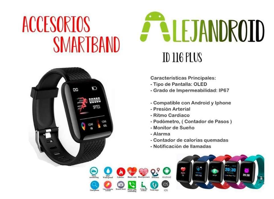 Smart Band Id 116 Plus Reloj Inteligent