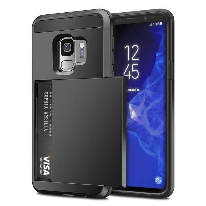 Carcasa Samsung Galaxy S9 Estuche Forro Porta Tarjetas