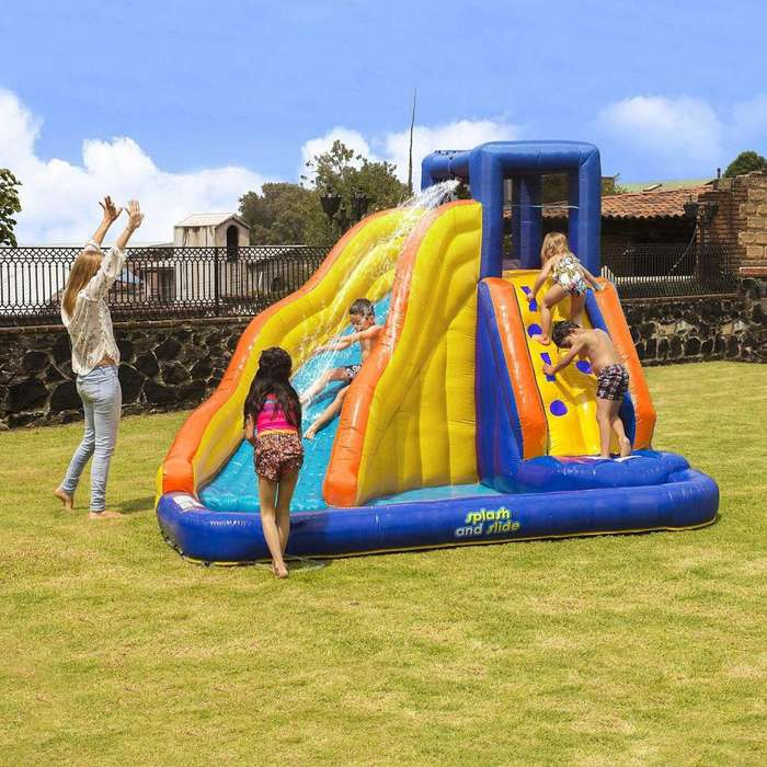 My 1st Splash N Slide/ Piscina Inflable Con Tobogan